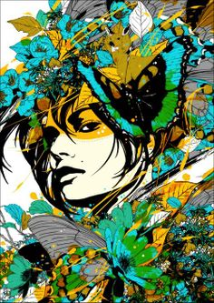 Vividly Alluring Collages Marumiyan Creates an Intricate Game of Eye Spy in These Portraits Japanese Pop Art, Japanese Artists, Collages, Collage Art, Graffiti, Sketch Manga, Street Art, Collage Illustration, Art Images