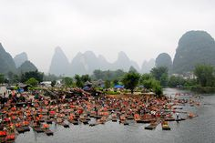 Traffic jam on the river, Guilin | China(by marin.tomic)
