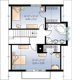 House Plan 65443 Level Two