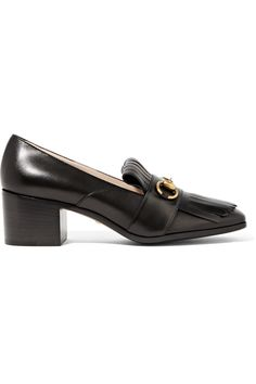 GUCCI Horsebit-detailed fringed leather pumps  $795.00 https://www.net-a-porter.com/product/754222