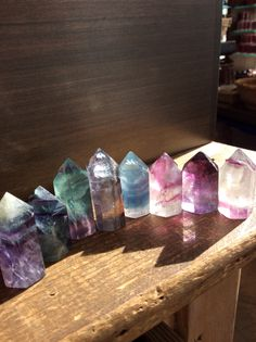 I just really love pretty crystals. These are fluorite crystals.