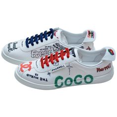Chanel x Pharrell Capsule Collection Canvas Sneakers Size Woman NEW For Sale Chanel Loafers, Chanel Sneakers, Chanel Shoes, Shoes Heels, Pumps, Flats, Shoes Sneakers, High Heels, Dress Shoes