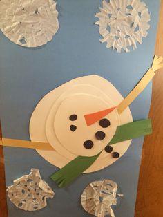 Snowman snowflake classroom door