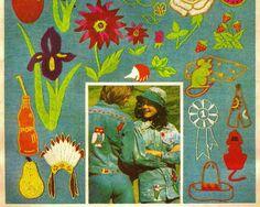70s Hippie Embroidery Patterns Vintage Simplicity by StitchySpot