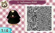Este es un QR Code para Animal Crossing, creado por mí; como podéis observar, es un vestido de halloween de color negro. [1-4]  Lo podéis encontrar en mi canal de YouTube: https://www.youtube.com/channel/UCh6uwa2CjSgR4WQ-ghRQY6Q (Roxy).  ¡Espero qué os guste! ;)