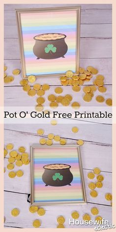 Housewife Eclectic: Pot O' Gold Free Printable