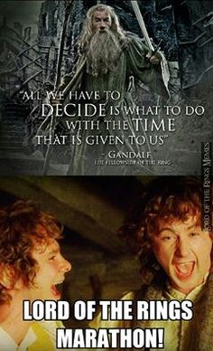 Yes! A marathon is in the works once the extended editions of all the Hobbit movies are released!!