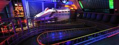 Celebrate adventure, fantasy, the past, the future and the imagination! Look at this Disneyland Paris attraction. Star Tours Disneyland, Disneyland Paris Attractions, Disneyland Paris Rides, Parc Disneyland, Trees To Plant, Fair Grounds, Star Wars, Adventure, Park