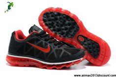 Wholesale Cheap Mens Nike Air Max 2011 Black Sport Red Sneakers Shoes Store