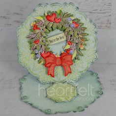 Copic Pens, Hobby House, Elegant Centerpieces, Decorative Bows, Easel Cards, Square Card, Heartfelt Creations, You're Awesome, Summer Wreath