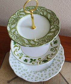 3 Tier Cake Cupcake Tidbit Plate Stand Vintage by Botanicalgems, $35.00 (since we are not doing a tradition cake, and just like some mini cupcakes or something, i think something like this would be perfect!)