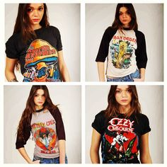 Just some of the vintage rock tees in our store! Photo by lotusvintage