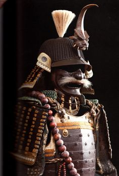 I NEED this Samurai suit of armor that displays nenju prayer beads and a hoshi-bachi helmet. From Samurai: Exquisite Warriors by Richard Beliveau.