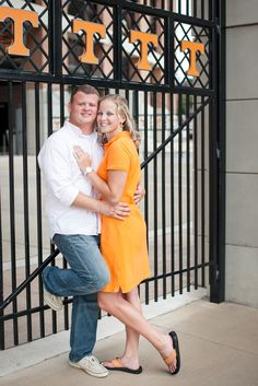 Football Stadium Engagement pictures at Neyland Stadium at The University of Tennessee in Knoxville, TN.  Shane Hawkins Photography of Knoxville, TN.- UT, vols, go big orange, orange, white, football, engagement, stadium, field, football engagement pictures, Stadium engagement pictures
