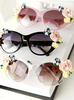 Colorful Baroque aesthetic fashion sunglasses sunglasses stereo flower sea  ,only $3.99 shop at Costwe.com