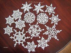 Crocheted snowflakes A LOT Picassa Album #crochetsnowflakes #crochet