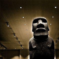 Moai at the British Museum. #london #travel #britishmuseum
