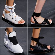 RAG & BONE Spring 2016 Shoes Another sporty footwear collection on this season's runways. And with possibly the widest ribbon laces of all shoes from Spring 2016 collections! Could easily be considered a unisex collection to some.
