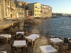 View from 'Thalassino Ageri', one of the best restaurants in Chania (Picture by Nick O' Doherty/Flickr)