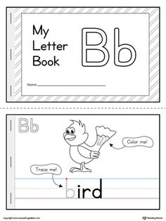**FREE** Letter B Mini Book Worksheet. The Letter B Mini Book is the perfect activity for practicing identifying the letter B beginning sound and tracing the lowercase letter.