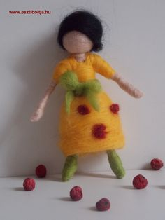 Needle felted doll/fairy.  This little girl/fairy brings love for you or somebody else...  www.esztiboltja.hu