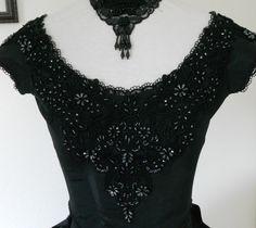Gothic Steampunk Black Ball Gown