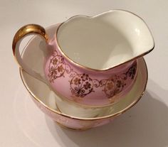 Imperial crown sugar bowl and creamer