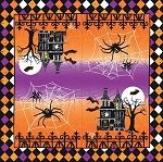 IHR Haunted Halloween 3-Ply Luncheon Napkins Wholesale L1305 | Designer Print Napkins | Halloween Napkins