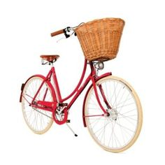 Pashley Cycles is proud to release the Britannia range of bicycles. The range is based on Pashley's popular Princess model (with a hand-built frame and large front wicker basket) and is available in Red, White or Blue. Pashley Bike, Cycle Chic, Commuter Bike, Old Bikes, My Ride, Wicker, Cycling, At Least, Just For You