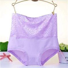 LeafMeiry Plus Size Underwear Women Sexy Body Shaper High Wasit Flower Lace Panties Briefs Women Panties Plus Size Underwear, Lace Body, Sexy Body, Sexy Women, Briefs, Stylish, High Waist, Flower, Purple