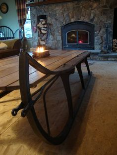 Hickory U0026 Antler Sleigh Coffee Table | Cabin Love | Pinterest | Antlers,  Cabin And Rustic Decor