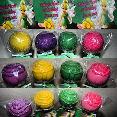 Tinkerbell Cake Pops, Aleeya's party favors?