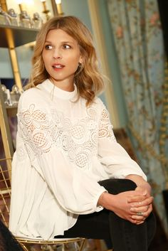 Clemence Poesy 2015 Lingerie Chloe Love Story Fragrance Launch in NYC 2 10