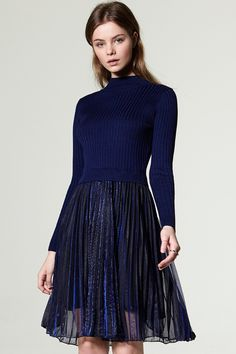 Sanas Pullover Pleated Dress Discover the latest fashion trends online at storets.com