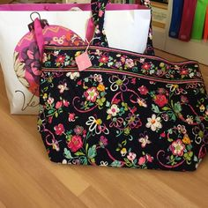 Brand New Vera Bradley Tote Brand new (with tags!) never used Vera Bradley grand tote in Ribbons. Gorgeous, roomy bag! Make an offer!  Vera Bradley Bags Totes