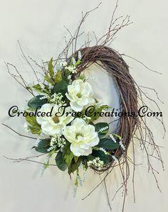 Magnolia Birch Wreath