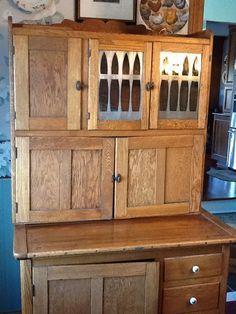 Hoosier Antique Cabinet   Natural Oak   Originally Made In Indiana  #MissionArtsCrafts