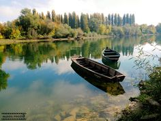 Wooden boats on river Kupa by Oliver Švob on 500px
