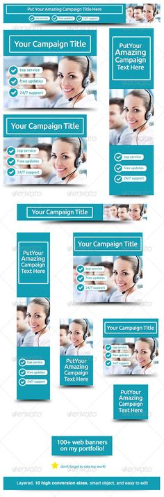Corporate Web Banner Design Template 30  #GraphicRiver        Bussiness Processing Outsourcing – Banner Design Template Use this business web banner for call center and BPO marketing Web Banner sizes These are the banner sizes that will give you high rate of conversion 	      leaderboard (728×90)   banner (468×60)   button (125×125)   small square (200×200)   wide skyscraper (160×600)   skyscraper (120×600)   vertical banner (120×240)   large rectangle (336×280)  Ad Sizes for Mobile Ads…