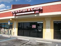 Pete's Fish & Chips in Cape Coral Fl. In our opinion, their food rivals the Harry Ramsden fish and chips chain in the UK.  Their authentic beer battered fish, chicken and shrimp are all cooked to perfection! Pasty meat Pies, imported british candies and other UK treats right in our own backyard.