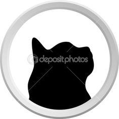 Эмблема кошки — стоковая иллюстрация #2107299