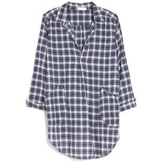 CP Shades Teton Plaid Shirt Dress ($212) ❤ liked on Polyvore featuring dresses, long sleeves, shirts, blue, plaid dress, blue plaid dress, collar dress, cotton dress and collared shirt dress