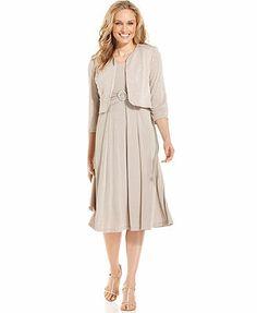 Jessica Howard Embellished Jacket & Pleated Dress
