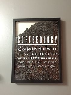 Coffeeology Coffee lover Vinyl Sticker Decal / Sticker - Shadow boxes and more - Wall Quote by AmberRockstar on Etsy