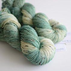Hand Dyed Tweed Sock Yarn Superwash Merino / by ToilandTrouble