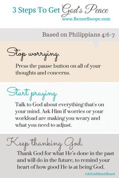 3 steps to getting God's peace!