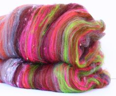 Ixtapa 3.2 oz  Wool  Merino Art Batt // Wool Art by atomicblue