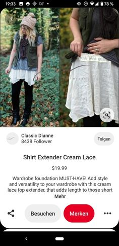 Shirt Extender, Girls Dresses Sewing, Lace Skirt, Classic, Skirts, Tops, Style, Fashion, Derby