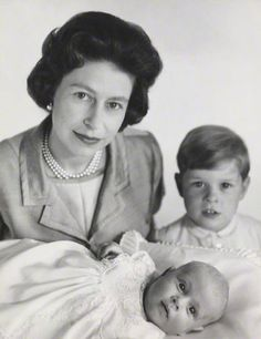 .The Queen with her youngest sons, Andrew and Edward  1964