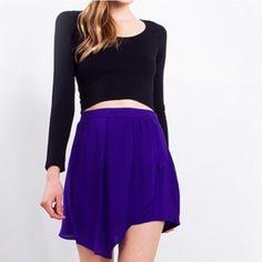 | TEMP SALE | royal drape skirt *Royal Purple *Asymmetrical *Drape skirt Skirts Asymmetrical